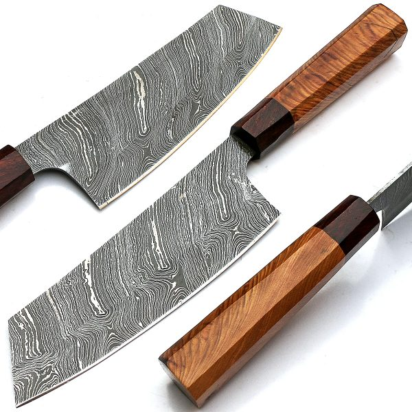 Damascus Chef Knives Handmade Damascus Steel Kitchen Knife 9283 Bowie Knife Sword And Knives