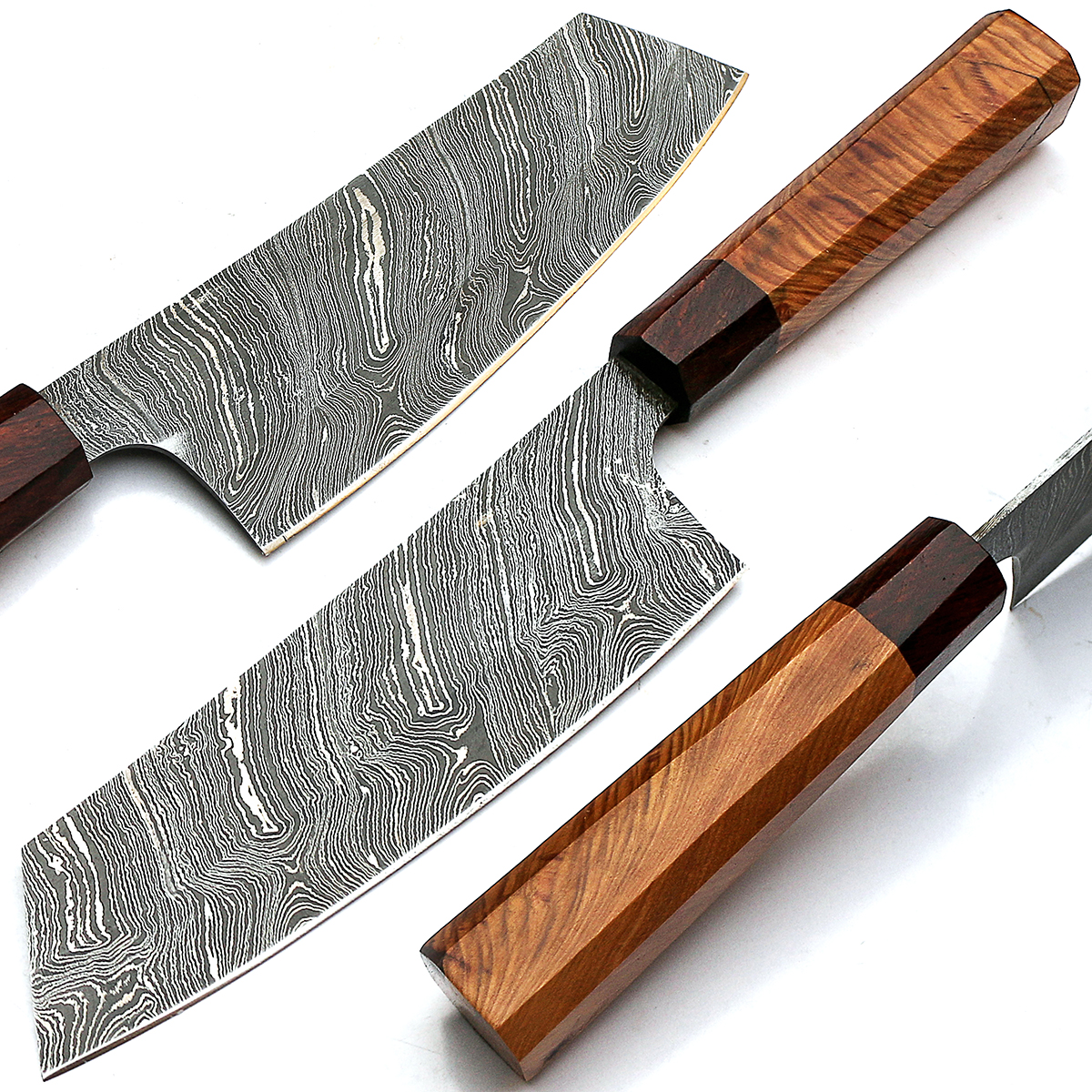 damascus chef knives - handmade damascus steel kitchen